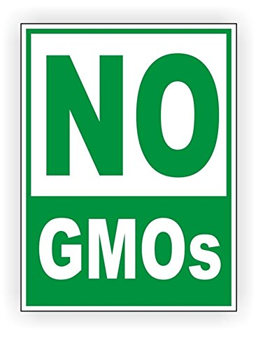 - 1 Set Reliable Unique No GMO's Window Stickers Signs Laptop Wall Graphics Safe Organic Genetically Modified Organism GMO Label Decor Vinyl Art Sticker Patches Size 4