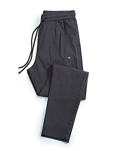 Jogging De Casual Lino Marengo Pantalones Cintura Slim AnyuA Hombre Elastica con para qz4xC