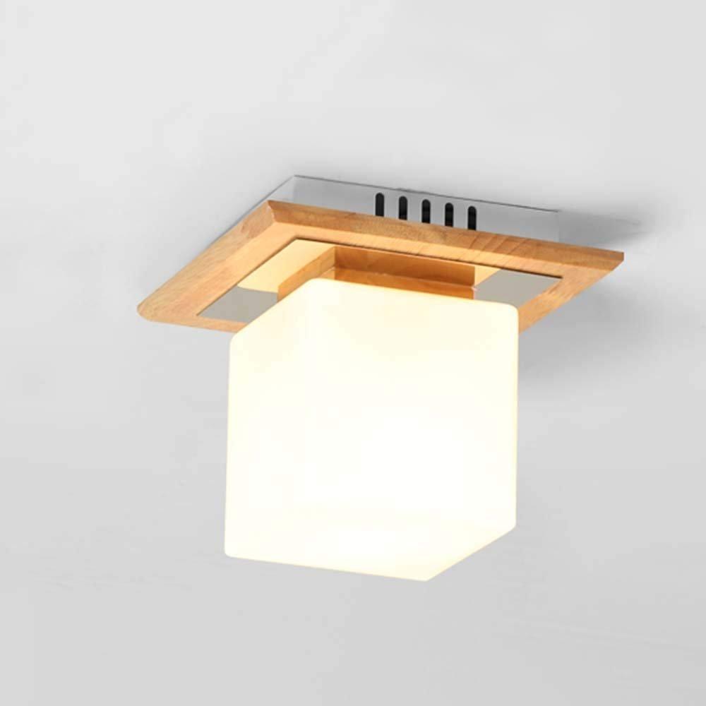 HYW Deckenleuchte - Holz modern chinesisch minimalistisch kreativ chinesisch Holzkunst Deckenleuchte Gang Schlafzimmer Wohnzimmer Deckenleuchte -Home warm Ceiling lamp