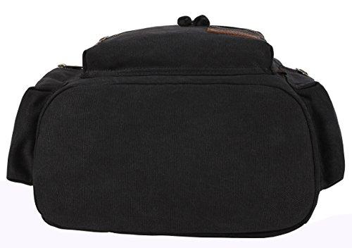 Greeniris - Bolso mochila  para mujer negro negro mediano negro