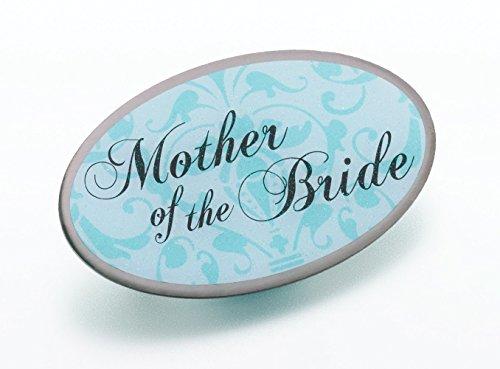 Lillian Rose Aqua Mother of Bride Pin Wedding Bridal Party Gift]()