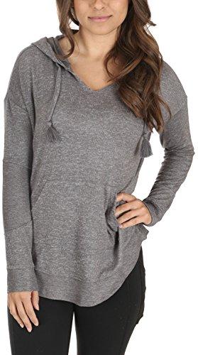 Roxy Shirt Hooded (Roxy Womens Cozy Chill - Hooded Sweatshirt - Women - XL - Black Charcoal Heather XL)