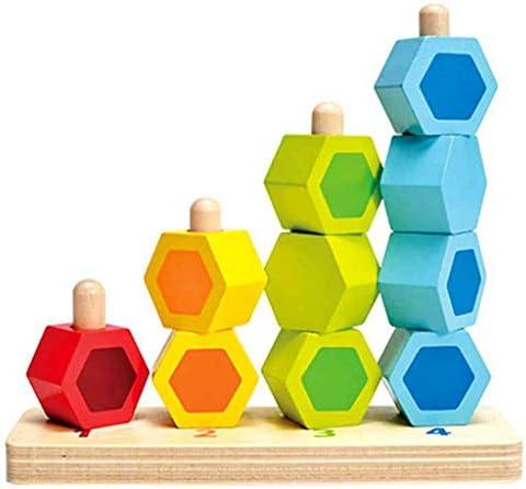 子供1-2-3歳の分類子供のビーズデジタル教育玩具の木製杭ニュートラル