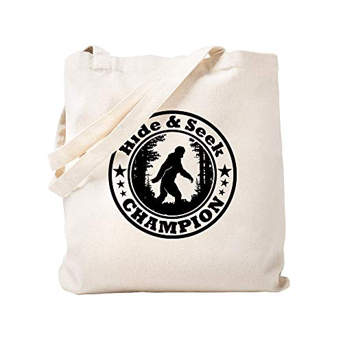 CafePress Hide And Seek World Champion Natural Canvas Tote Bag, Cloth Shopping Bag