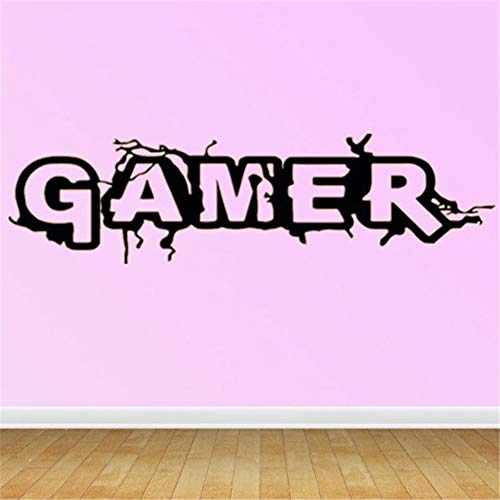 Hbvicts Sticker Bedroom Gamer Letter Removable Living Room Background Wall Sticker Home Decor by Hbvicts (Image #4)