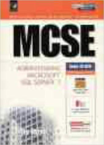 Book MCSE Certification: System Administration for Microsoft SQL Server 7