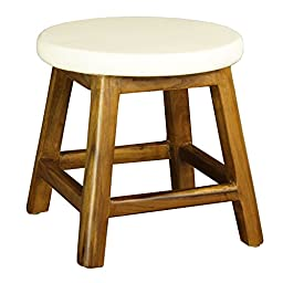 Antique Revival Bobby Stool, White