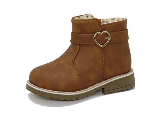 Blue Berry EASY21 Girls Fashion Cute Toddler/Infant Winter Snow Boots (10 M US Toddler, TAN17) -