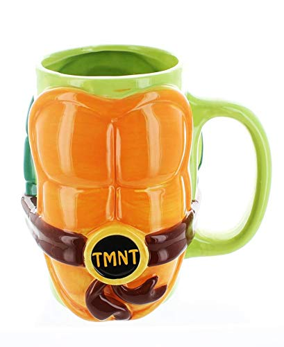 JUST FUNKY Tmnt-Cmg-5027-Jfc Teenage Mutant Ninja Turtles Molded Shell Mug (Ninja Mug Coffee Turtle)