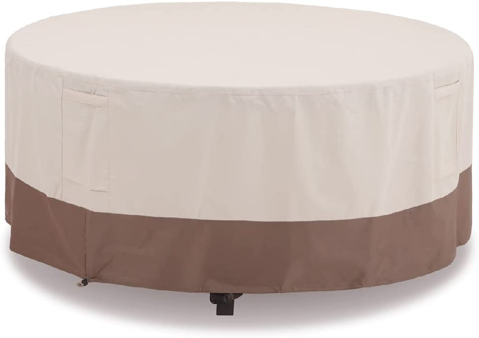 Sophia & William Patio Round Dining Table & Chair Set Cover, Heavy Duty Waterproof Outdoor Furniture Set Covers, 94''Dia x 23''H, Large