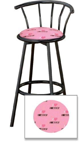Pink theme cool bar Carbon New29tallblackmetalfinishswivelseat Dreamstimecom New 29u2033 Tall Black Metal Finish Swivel Seat Bar Stools With Pink