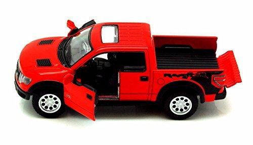 2013 Ford F-150 SVT Raptor SuperCrew Pickup Truck, Red - Kinsmart 5365D - 1/46 scale Diecast Model Toy Car (Brand New, but NO BOX)