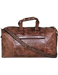 Cuero 25 Leather Duffel Weekender Travel Luggage Gym Yoga Bag