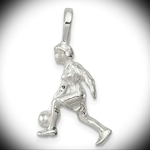 - Sterling Silver Lady Bowler Charm (1in x 0.5in) Vintage Crafting Pendant Jewelry Making Supplies - DIY for Necklace Bracelet Accessories by CharmingSS