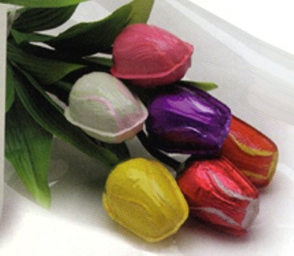 Tulip Bouquet Semi Solid Milk Chocolate (1/2 (Semi Solid Milk Chocolate)