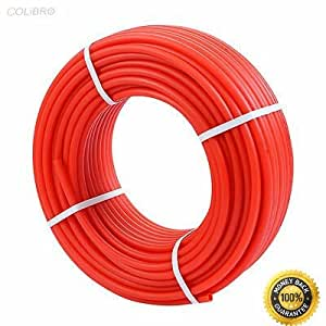 "COLIBROX--1/2"" x 300ft Feet Pex Tubing Non Oxygen Barrier Pex-B Radiant Floor Heat Red Crimp Connection System (Crimp Tool + Crimp Rings + Crimp Fittings) Cinch (Clamp) Connection System (Cinch Tool"