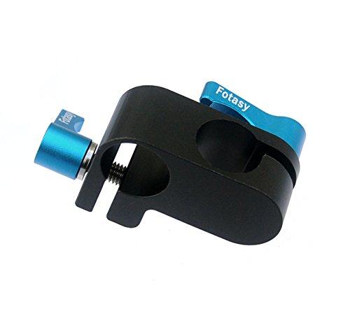 Fotasy RA 90-Degree 15mm Rod Rig Connector Adapter for DSLR Shoulder Pad Hand Grip (Black) by Fotasy