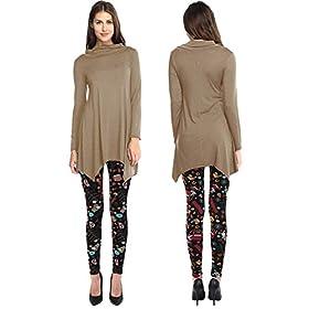 - 41QF5M4zGEL - VIV Collection Soft Brushed Printed Leggings Seasonal Designs for Fall/Winter Christmas REG/Plus