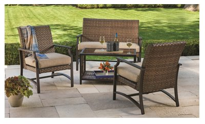 Patio Master SBGV03500-T01 Hyde Park Patio Seating Set, 4-Pc. - - Amazon.com: Patio Master SBGV03500-T01 Hyde Park Patio Seating Set