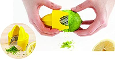 Talisman Designs Citrus Zester & Reamer, for Lemons and Limes, BPA-free Plastic and Stainless Steel