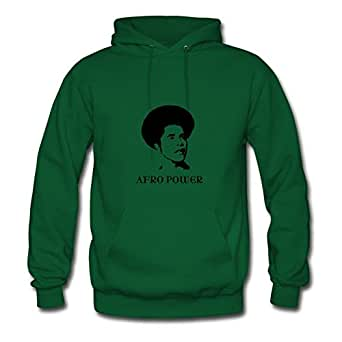 Green Regular Afro Women Funny Sweatshirts X-large