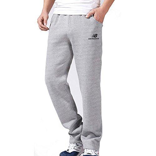 YOOKOON Men's Dri-Power Closed-Bottom Fleece Pocket Lounge Pants (XL, Light grey)