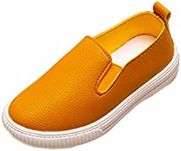 TM Kids Faux Leather Slip-On Shoes Fashion Casual Sneakers For Girls Boys (Toddler/Little Kid)