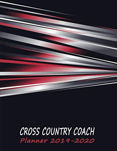 Planner Cross Country Coach: 2019 to 2010 Academic Year Calendar Training Drills for Boys & Girls - Sporty Abstract (Coach Journal - Cross Country) ()