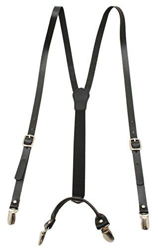 Leather Black Suspender Elastic Braces product image