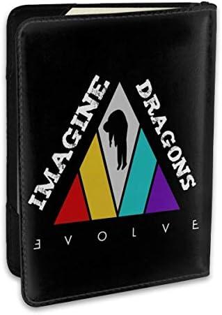 イマジン・ドラゴンズ Imagine Dragon パスポートケース パスポートカバー メンズ レディース パスポートバッグ ポーチ 収納カバー PUレザー 多機能収納ポケット 収納抜群 携帯便利 海外旅行 出張 クレジットカード 大容量