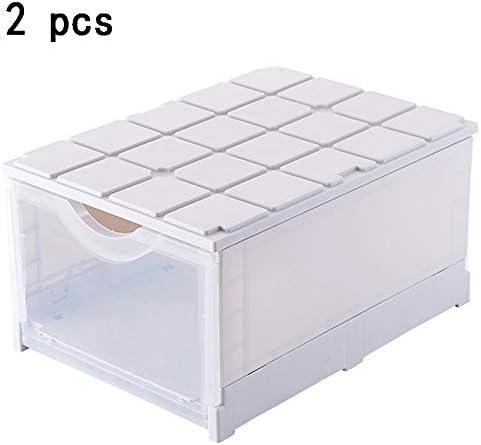 LHY SAVE 2 Pcs Cajas Zapatos Plástico Transparente Apilables Cajas ...