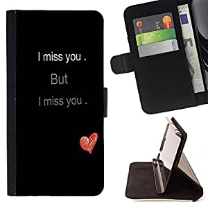 Dragon Case - FOR HTC Desire 820 - i miss you - Caja de la carpeta del caso en folio de cuero del tir¨®n de la cubierta protectora Shell