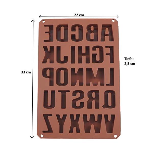 Stampi per dolci, biscotti, 26 lettere dell'alfabeto, estremamente stabili, formine in silicone, per cioccolatini 34 x… 2 spesavip