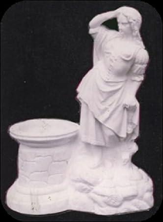 Frau An Brunnen A49 Skulptur Deko Gartenfiguren Statuen Steinguss