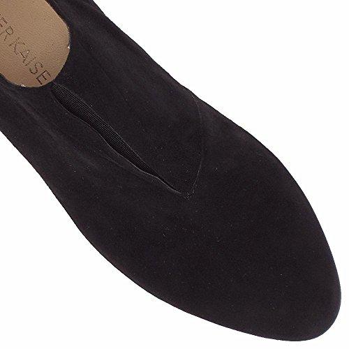 Peter Kaiser Hanara Alto Top Pantalón Zapatos En Gamuza Negra Black Sued