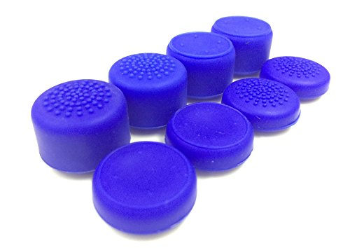 Sweat Free 100% Silicone Raised Antislip Rubber (8 grips) Thumbstick Grips for Xbox One / One S Wireless Controller (Blue ) by E-MODS GAMING