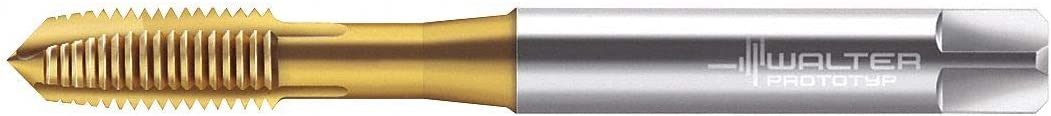 HSS-E TiN Thread Size #6-32 Overall Length 56.00mm UNC Spiral Point Tap Right Hand