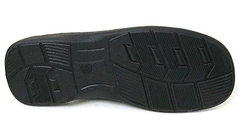 GFLM Mens Sandals Comfortable Opened Toe Thong Casual Flip Flops Slip on Slide Slippers Black-m5 vNfYL5YJn