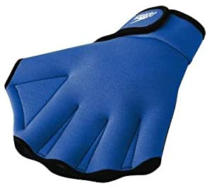 Speedo Aqua Fit Swim Training Gloves, Royal, Small