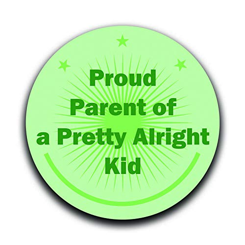 More Shiz Proud Parent of A Pretty Alright Kid Decal Sticker Car Truck Van Bumper Window Laptop Cup Wall MKS0345 Two 5 Inch Decals
