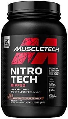 Muscletech Performance Series Nitro-Tech Ripped Chocolate Fudge Brownie - 903 gr