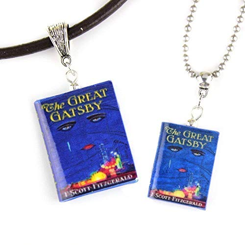 THE GREAT GATSBY F. Scott Fitzgerald Clay Mini Book Necklace by Book Beads ✯ OFFICIALLY LICENSED ✯