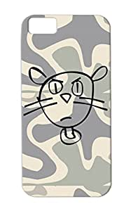 Cat TPU Animals Nature Cats Cat Cats Cover Case For Iphone 5c Black Shockproof