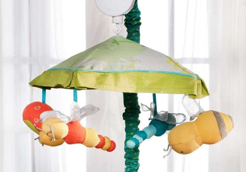 Carter's Flitter Musical Mobile Boy's Crib Nursery Neutral Bugs Bees Dragonfly ()