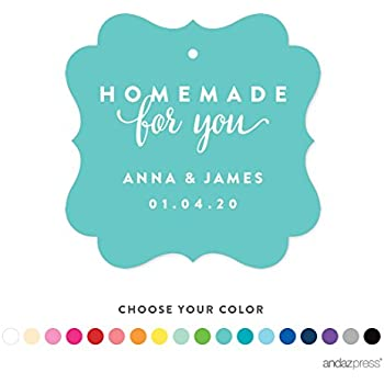 Andaz Press Personalized Fancy Frame Gift Tags Homemade For You 24 Pack