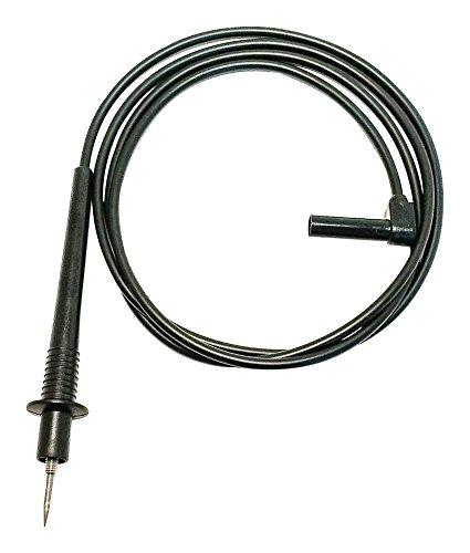 Test Lead, Test Prod, Right Angle Banana Plug, Shrouded, 1 kV, 20 A, Black, 1.2 m Right Angle Shrouded Banana Plug