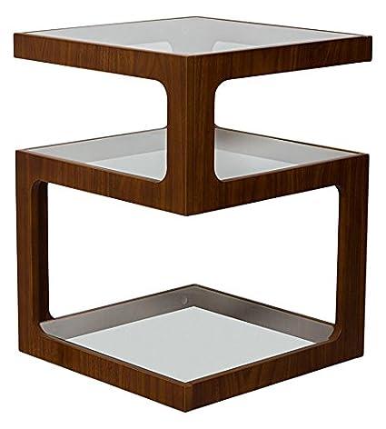 ASPECT Rossini tavolino dai lati a tre livelli/Tavolino da caffè/Tavolino da tavolo/lampada (noce), Legno ST13WNT