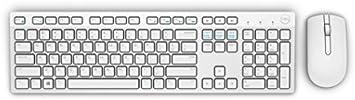 Dell KM636 teclado Bluetooth, blanco – teclado (inalámbrico, Bluetooth, blanco, ratón incluido, no necesariamente español)