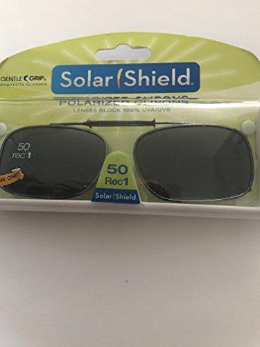 Solar Shield Clip-On Full Frame Polarized Sunglasses, Gray - Walmart Clip On Polarized Sunglasses