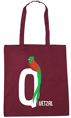 HippoWarehouse Bag 10 Q animal for Gym Shopping quetzal Beach litres is 42cm Tote alphabet Burgundy x38cm rrqwdvHO